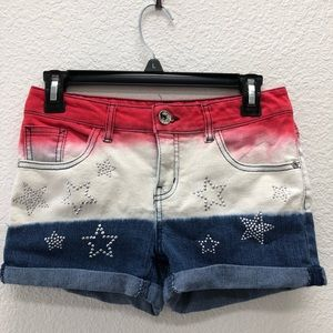 Justice Girls Americana 4th of July Plus shorts